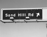 Exit sign Sand Hill Road