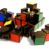 Disassembled Rubik's cube