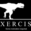 T Rex chasing person