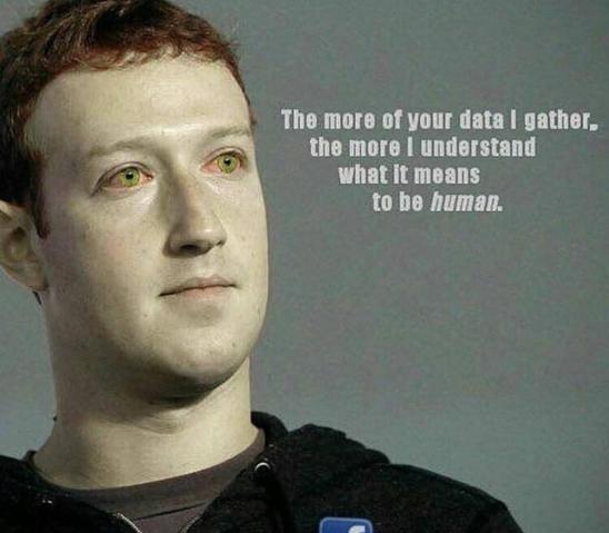Zuckerberg as Star Trek Android