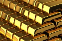 A pile of shiny gold bars
