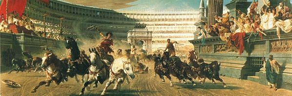 he Chariot Race, c. 1882. Alexander von Wagner 1838-1919. Oil on canvas, Manchester Art Gallery.