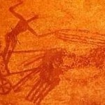 Garamantian Horse Chariot depicted in Rock Art at Tin Annenouin, Tadrart Acacus, Libya, Sahara.